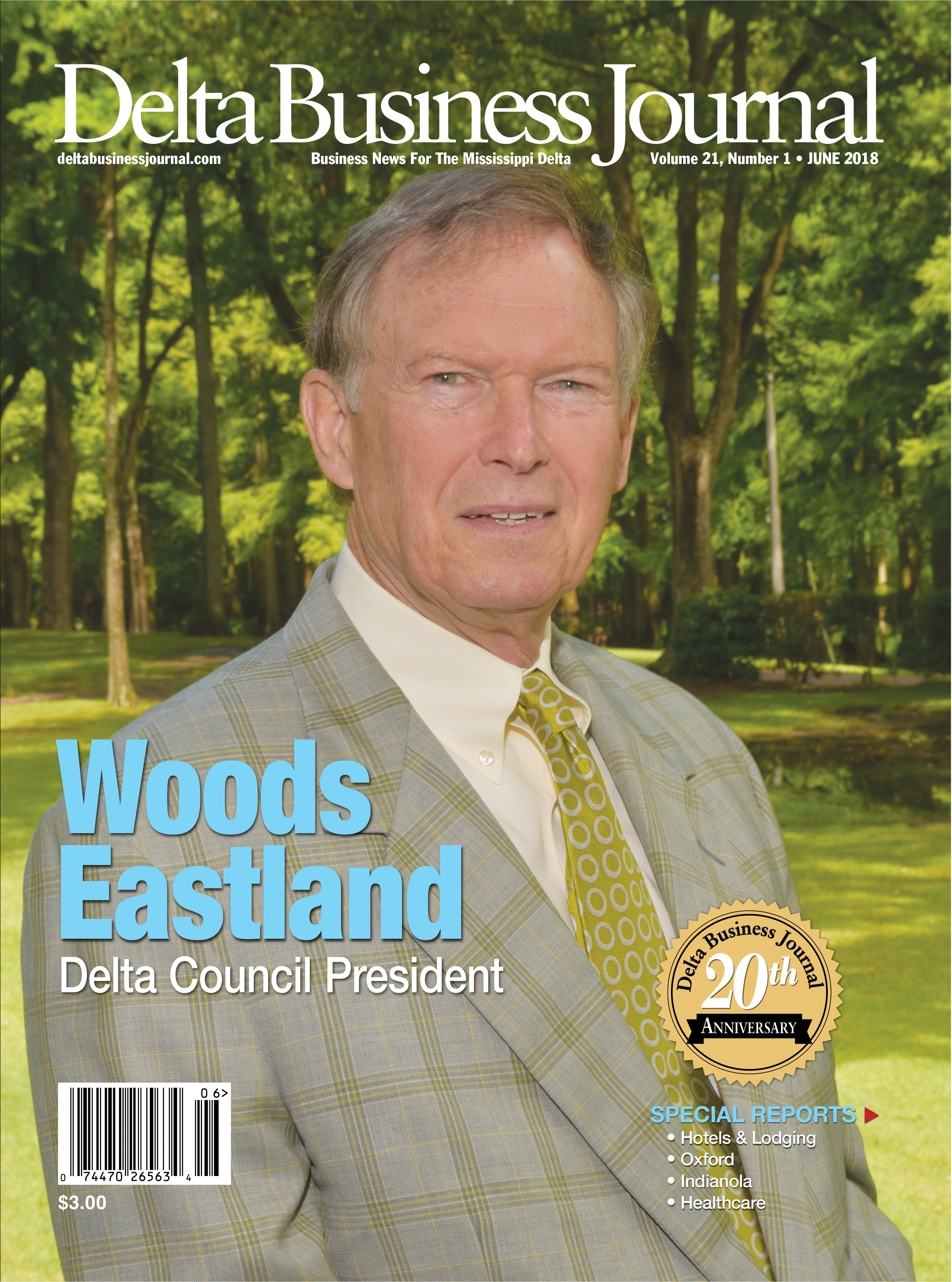 Woods Eastland- The New 2018­-2019 Delta Council President